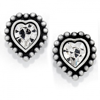 Twinkle Shimmer Heart Mini Post Earrings