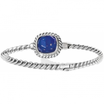Color Clique Gem Lapis Bangle Set