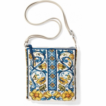 Bella Limone Embroidered Pouch
