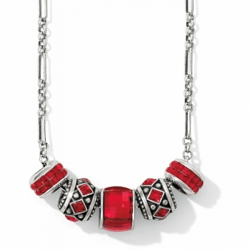 Red Link Charm Necklace