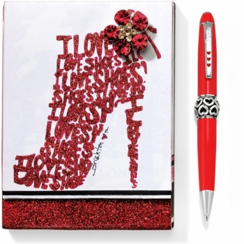 Shoes Notepad Pen Set