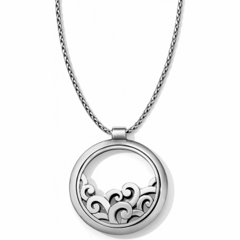 Deco Lace Round Convertible Necklace