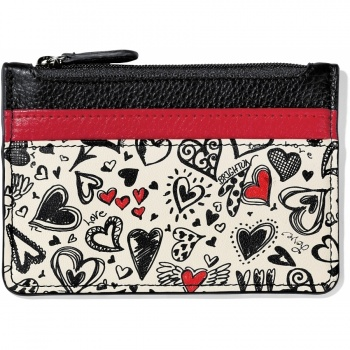 Fashionista Graffiti Card Coin Case