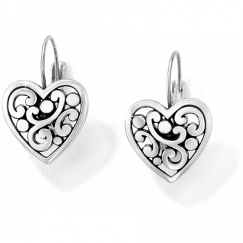 Contempo Contempo Heart Leverback Earrings