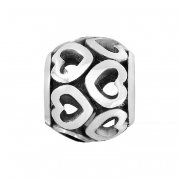 ABC Open Heart Bead