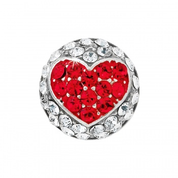 Glitter Hearts Ring Bead