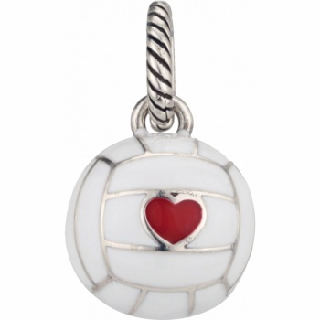 Sports Love Volley Ball Charm