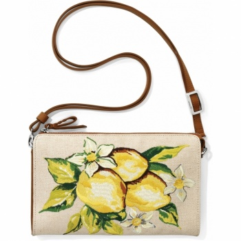 Lemon Embroidered Pouch