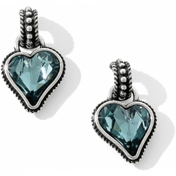 Bibi Heart Gem Reversible Post Drop Earrings