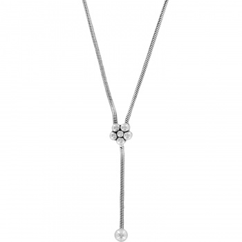 Y-Not Flower Charm Necklace