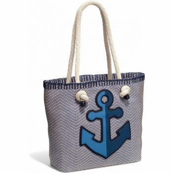 Indigo Blue Cruiser Knotted Soft Tote