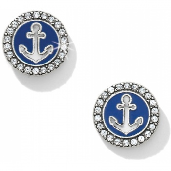 Indigo Beach Anchor Post Earrings