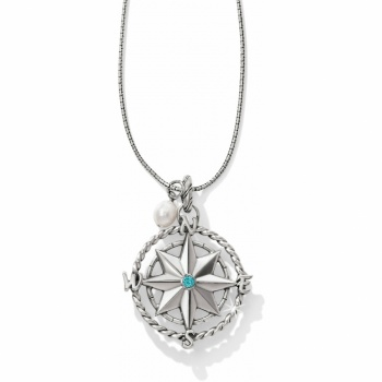 Indigo Beach Convertible Compass Necklace