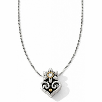 Alcazar Flor Heart Necklace