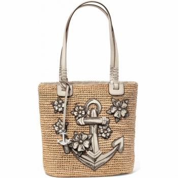 Home Handbags Straw Dockside Convertible Straw Tote