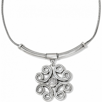 Interlok Interlock Medallion Collar Necklace