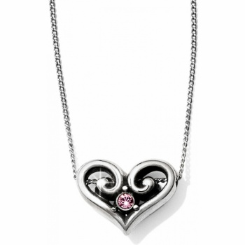 Alcazar Heart Crystal Necklace
