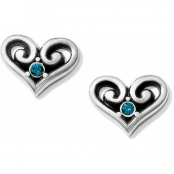 Alcazar Alcazar Heart Crystal Post Earrings