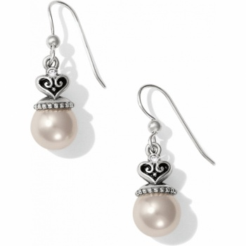 Alcazar Pearl Drop French Wire Earrings