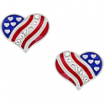 Hearts and Stripes Hearts and Stripes Mini Post Earrings