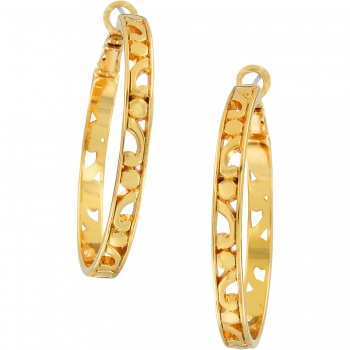Contempo Contempo Large Hoop Earrings