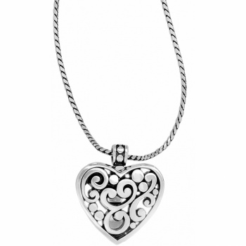 Contempo Contempo Heart Badge Clip Necklace