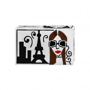 City Girl Postcard Bead