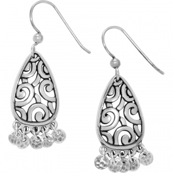 Deco Dangle Charm French Wire Earrings