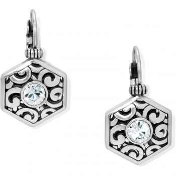 Deco Solitaire Leverback Earrings