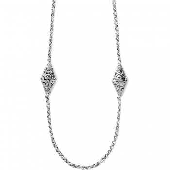 Deco Diamond Link Long Necklace