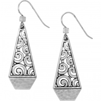 Deco Faceted French Wire Earrings