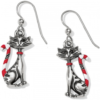 Candy Cane Cat Candy Cane Cat Earrings
