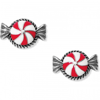 Holiday Cheer Peppermint Mini Post Earrings