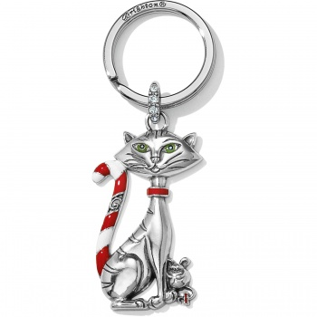 Candy Cane Cat Candy Cane Cat Key Fob
