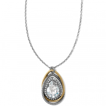 Neptune's Rings Gem Teardrop Necklace