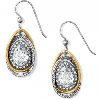 Neptune's Rings Gem Teardrop French Wire Earrings