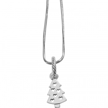 Christmas Heart Long Charm Necklace