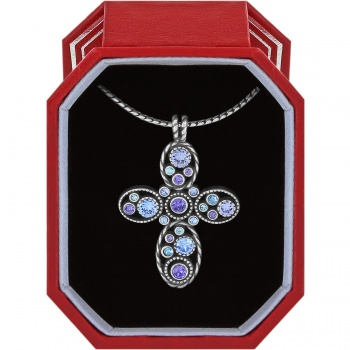 Halo Cross Necklace Gift Box