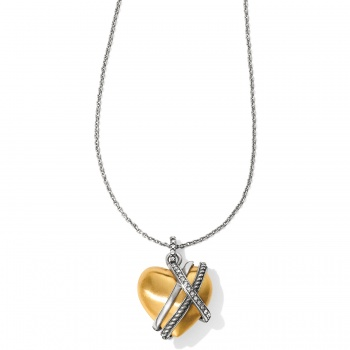 Neptune's Rings Golden Heart Necklace