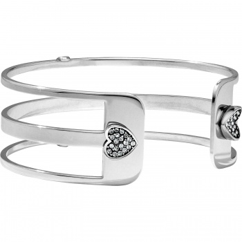 Christo Chara Heart Narrow Cuff Bracelet