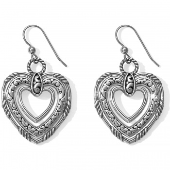Contempo Contempo Trio Forever Heart French Wire Earrings