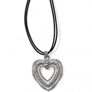 Contempo Trio Forever Heart Long Necklace