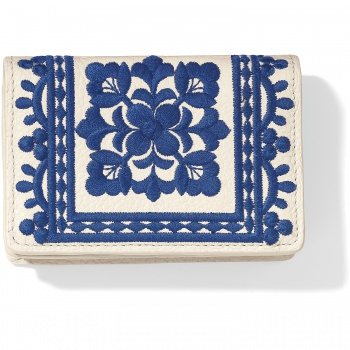 Casablanca Garden Embroidered Card Case