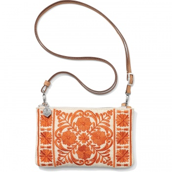 Casablanca Garden Embroidered Cross Body Pouch
