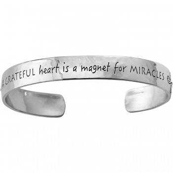 Cherished Grateful Heart Cuff Bracelet