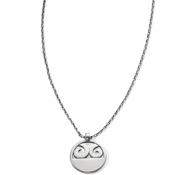 London Groove Disc Petite Necklace