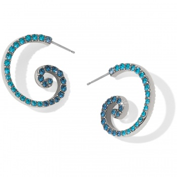 Sea Of Love Crystal Hoop Earrings