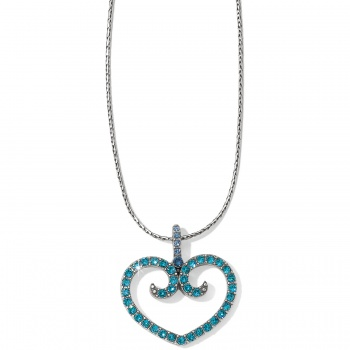 Sea of Love Reversible Petite Heart Necklace