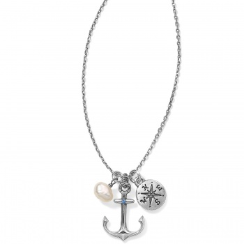 Blue Water Petite Anchor Trio Necklace