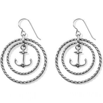Blue Water Floating Anchor French Wire Earrings